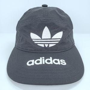 Adidas Originals Mens Black 7 Panel Nylon Hat